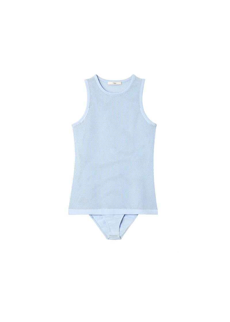 Tech Poly Mesh Bodysuit Blue Lavender-2