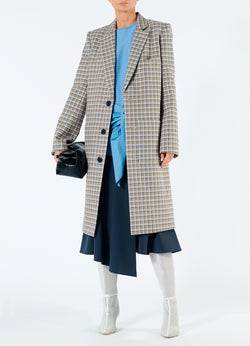 Zion Plaid Lab Coat Tan Multi-1