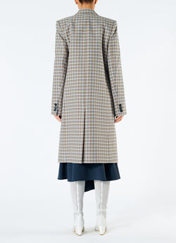 Zion Plaid Lab Coat Tan Multi-3