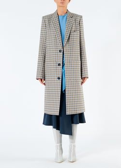 Zion Plaid Lab Coat Tan Multi-4
