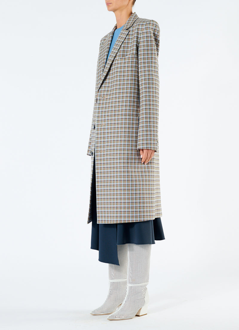 Zion Plaid Lab Coat Tan Multi-5
