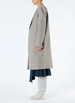 Zion Plaid Lab Coat Tan Multi-6