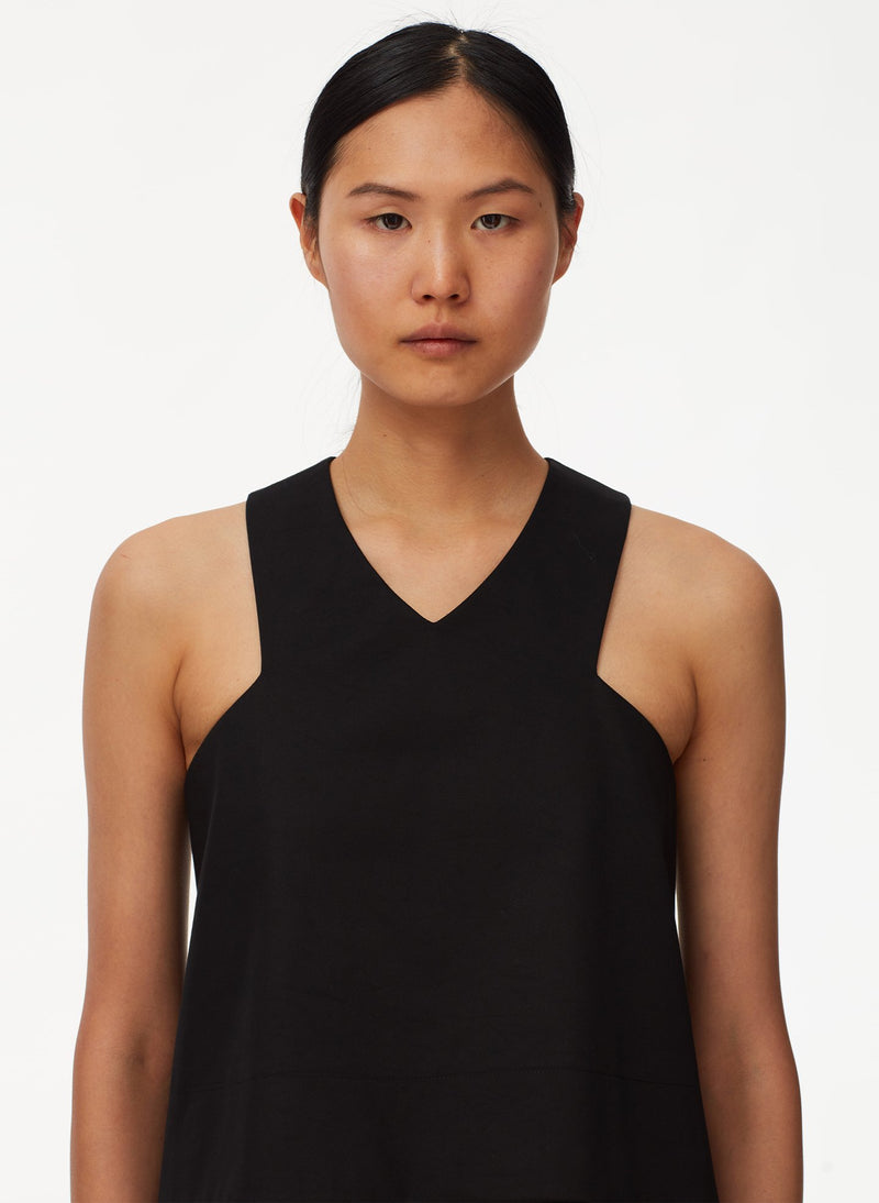 Bonded Sateen Sleeveless Top Black-4