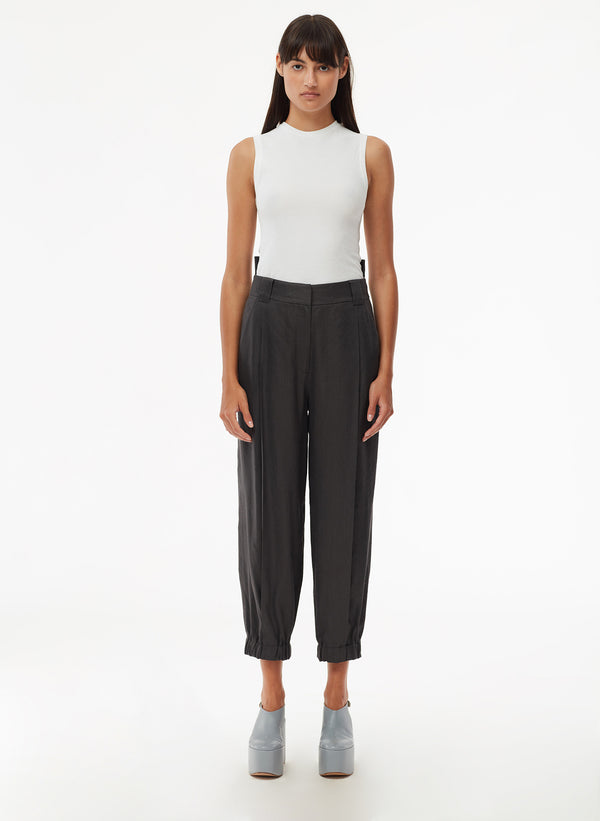 Wesson Linen Double Waisted Sculpted Pant