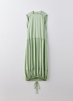 Eco Silk Cape Dress with Belt Mint-9