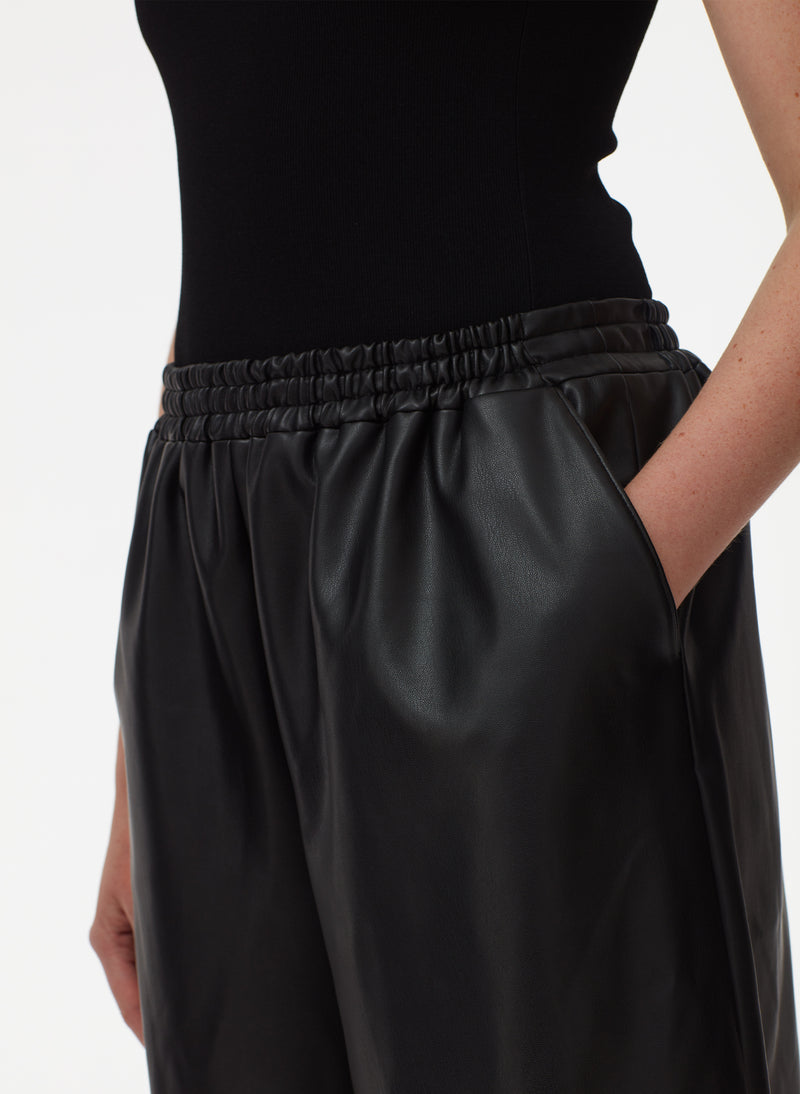 Faux Leather Relaxed Long Leather Short Faux Leather Relaxed Long Leather Short