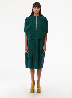 Harrison Chino Balloon Dress Pine-1