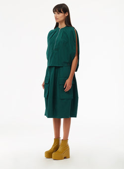 Harrison Chino Balloon Dress Pine-2