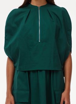 Harrison Chino Balloon Dress Pine-5