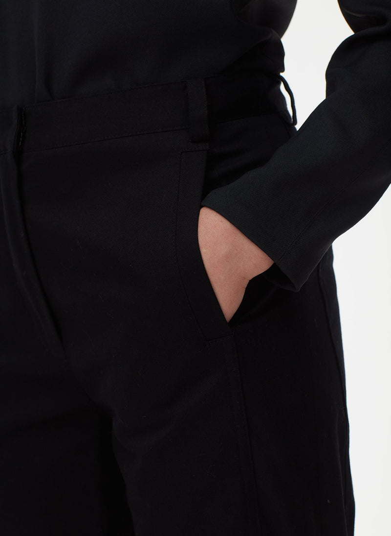 Harrison Chino Ruched Pant Black-4