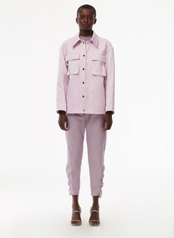 Harrison Chino Ruched Pant Lilac-9