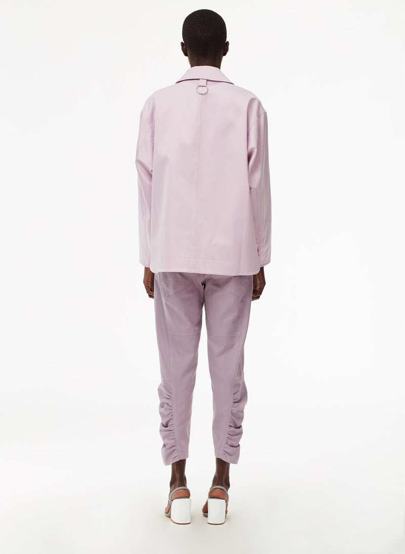 Harrison Chino Ruched Pant Lilac-12