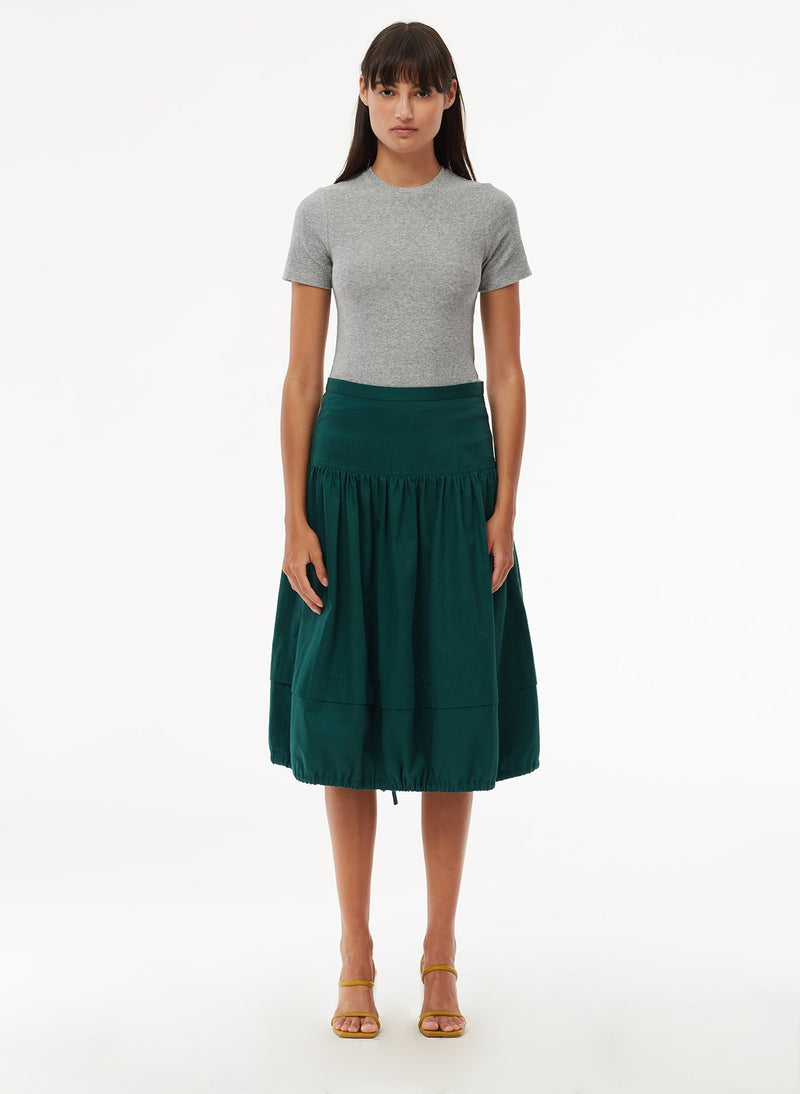 Harrison Chino Balloon Skirt Pine-1
