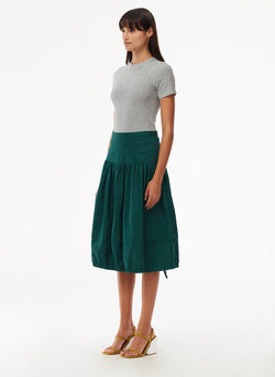 Harrison Chino Balloon Skirt Pine-2