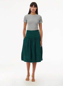 Harrison Chino Balloon Skirt Pine-5