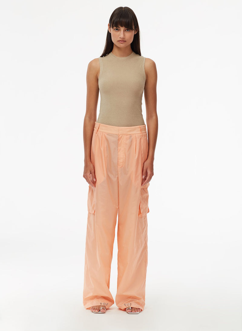 Nylon Cargo Pant Orange Sherbet-1