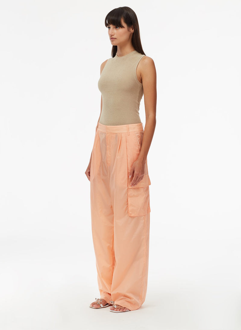Nylon Cargo Pant Orange Sherbet-2