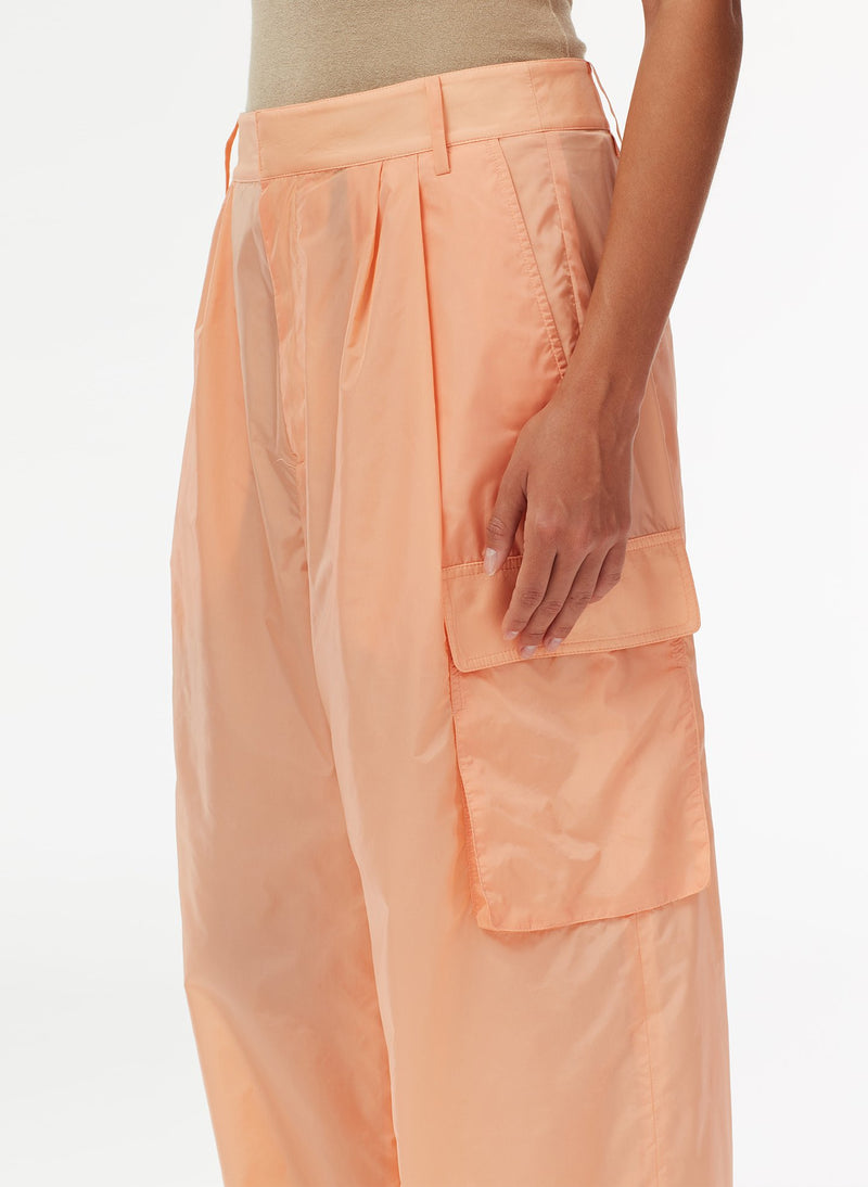 Nylon Cargo Pant Orange Sherbet-4