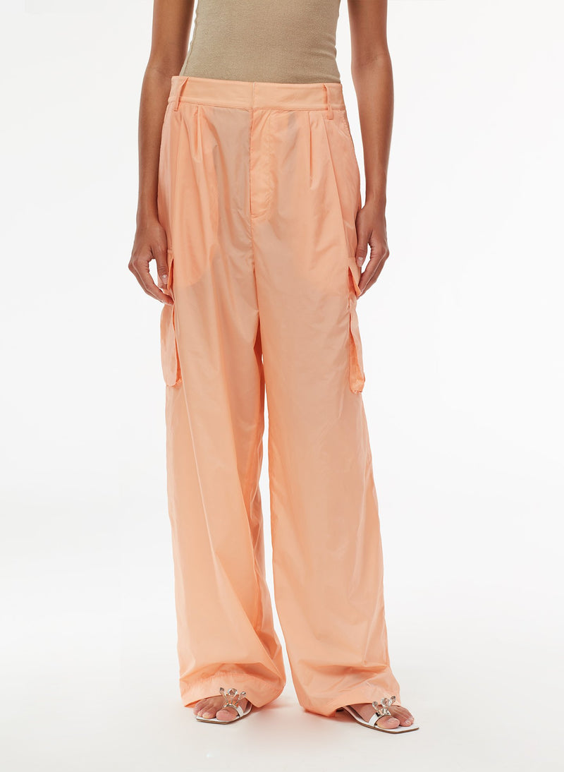 Nylon Cargo Pant Orange Sherbet-5