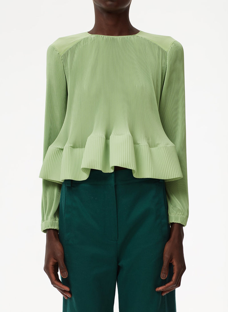 Pleated Top Mint-11