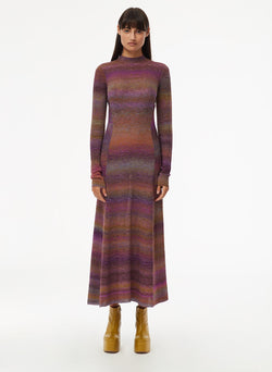 Space Dyed Openback Dress Purple Multi-8
