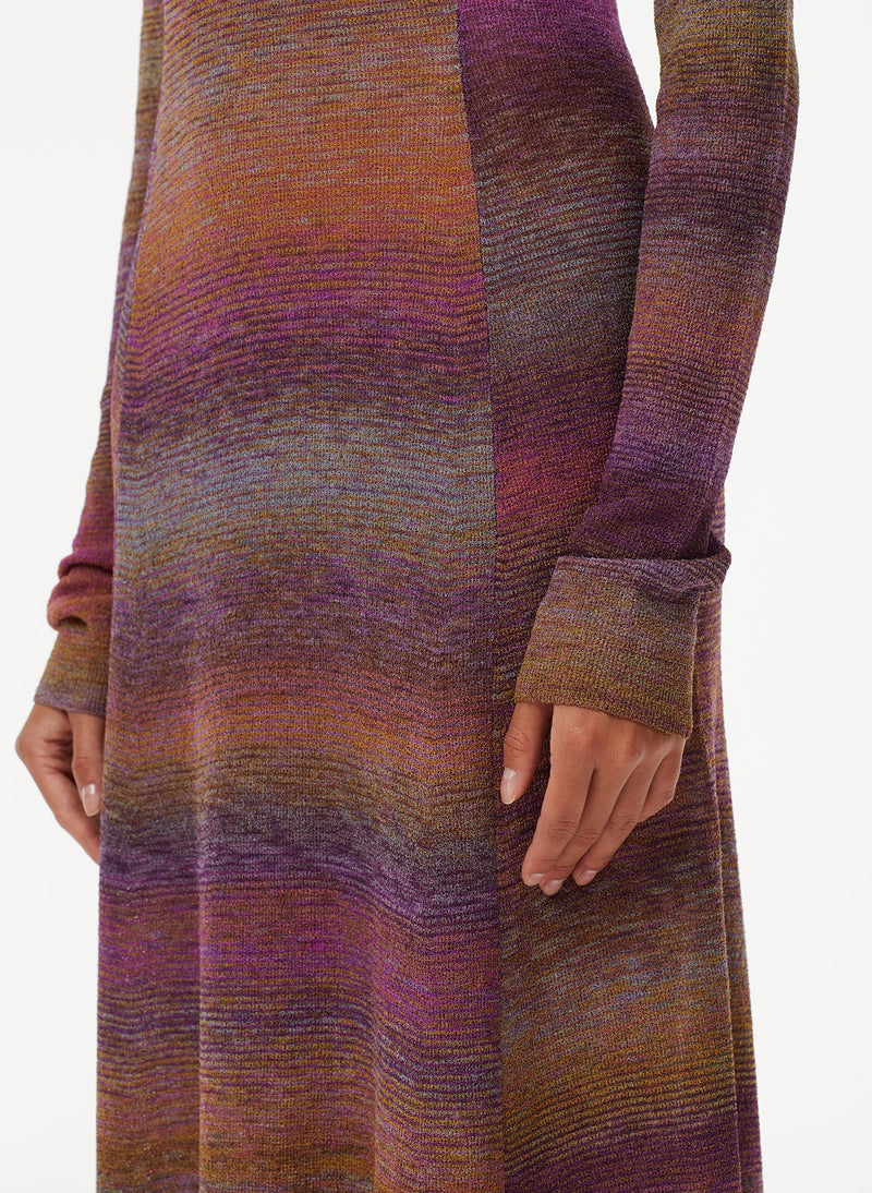 Space Dyed Openback Dress Purple Multi-12