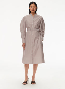 Striped Shirtdress with Belt Plum Multi-5