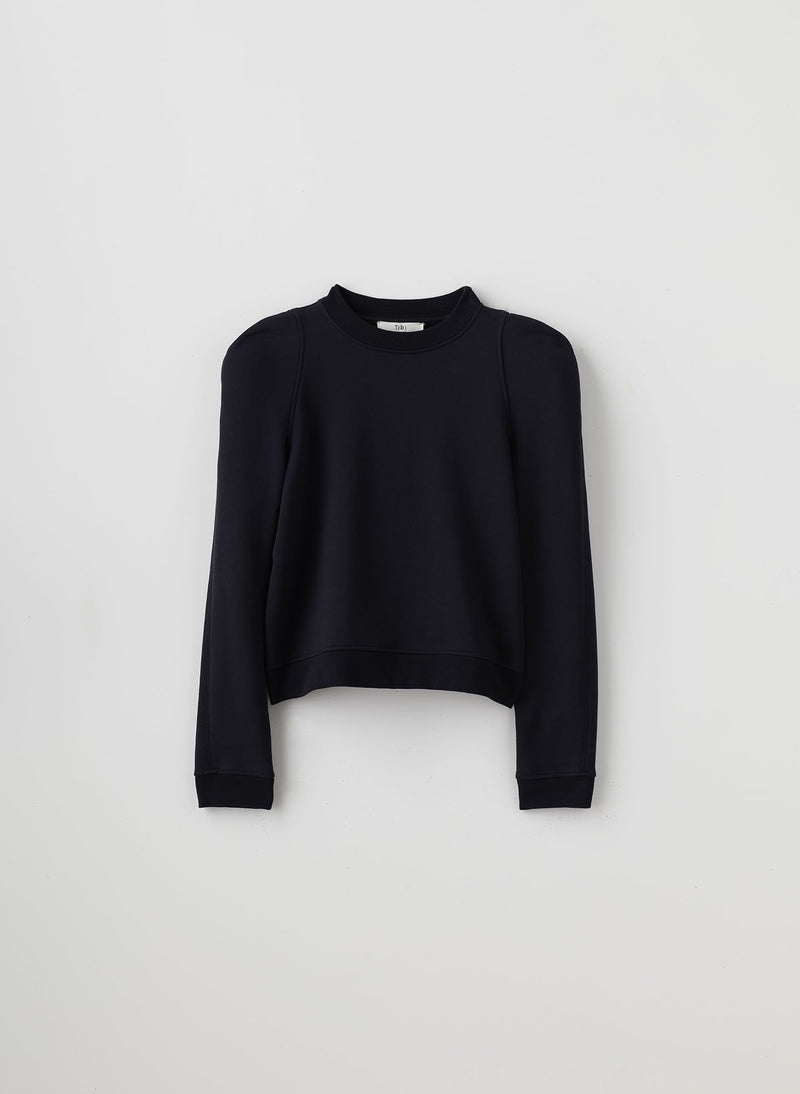 Sculpted Shoulder Sweatshirt Navy-6