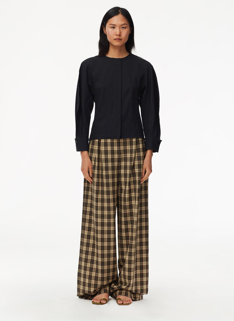 Tristan Plaid Stella Pant Brown Multi-1