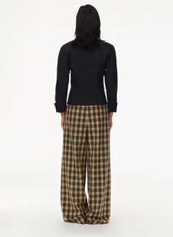 Tristan Plaid Stella Pant Brown Multi-3