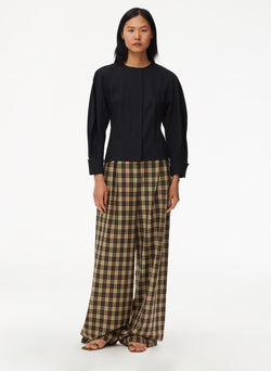 Tristan Plaid Stella Pant Brown Multi-4