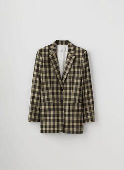 Tristan Plaid Blazer Brown Multi-8