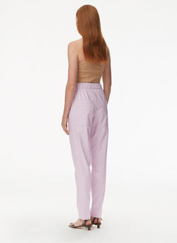 Tissue Faux Leather Pull On Pant Purply Pink-3