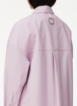 Tissue Faux Leather Utility Blouse Purply Pink-5
