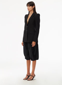 Tropical Wool Blazer Black-2