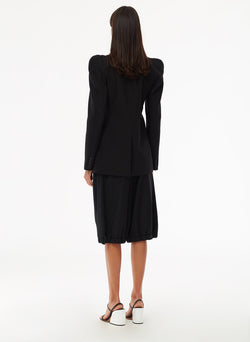 Tropical Wool Blazer Black-3