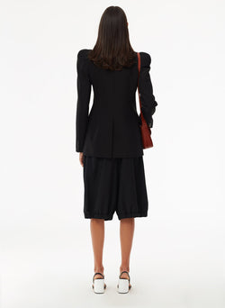 Tropical Wool Blazer Black-4