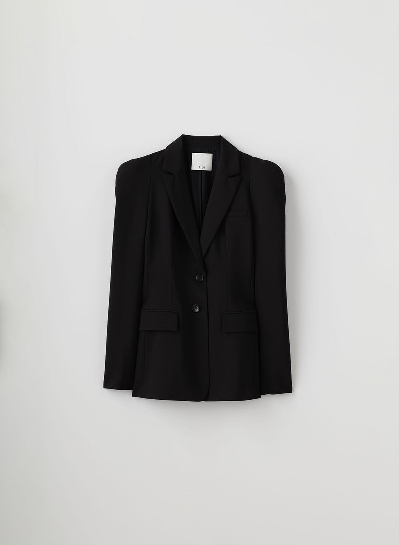 Tropical Wool Blazer Black-7