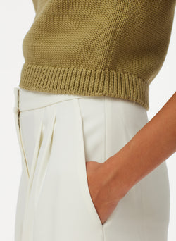 Tube Yarn Cropped Pullover Tube Yarn Cropped Pullover