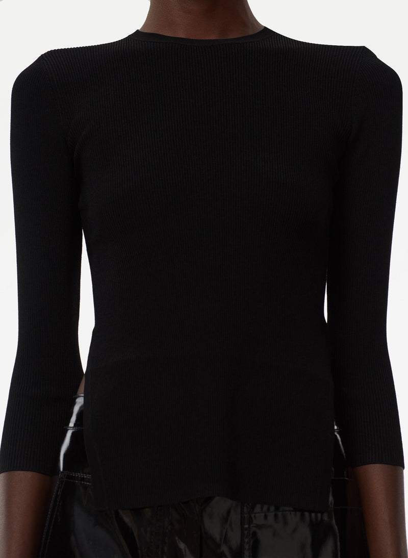 Giselle Stretch Openback Sweater Black-5