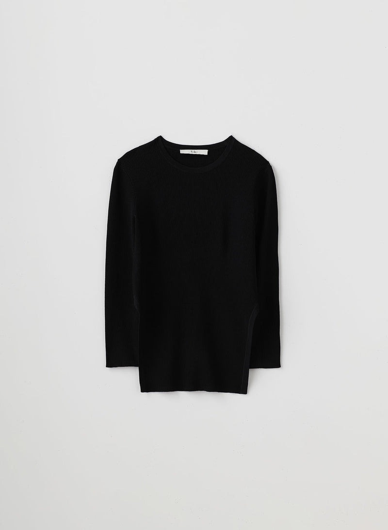 Giselle Stretch Openback Sweater Black-8