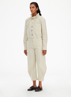 Organic Cotton Twill Sculpted Pant Organic Cotton Twill Sculpted Pant