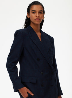 Crosshatch Suiting Double Breasted Blazer Crosshatch Suiting Double Breasted Blazer