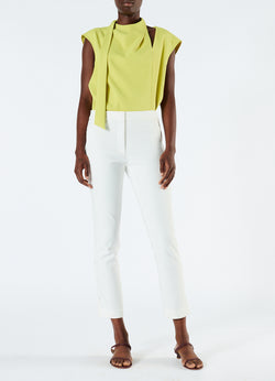 Anson Stretch Cropped Skinny Pant Ivory-1