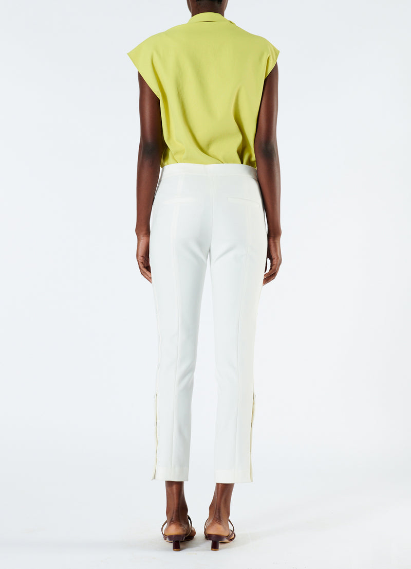 Anson Stretch Cropped Skinny Pant Ivory-3