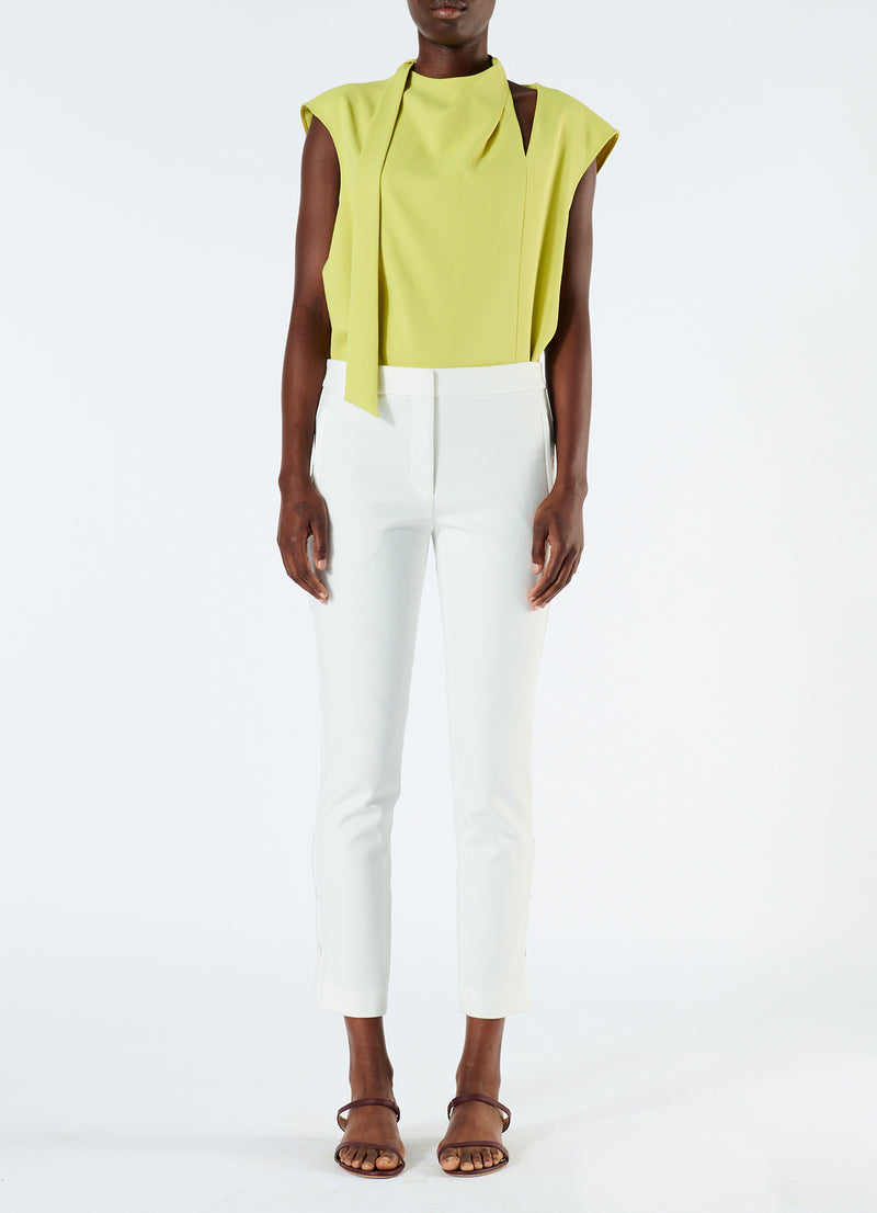 Anson Stretch Cropped Skinny Pant Ivory-4
