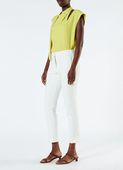Anson Stretch Cropped Skinny Pant Ivory-5