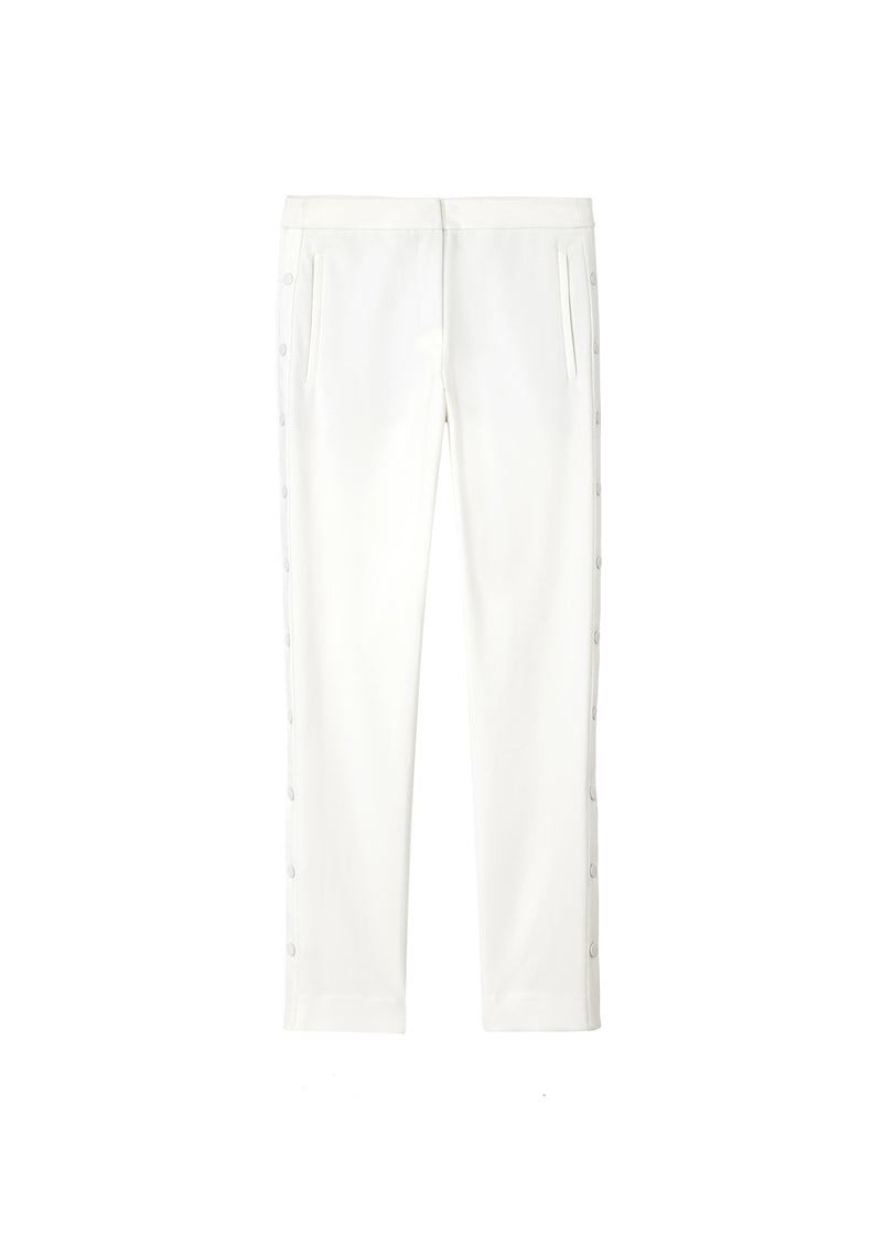 Anson Stretch Cropped Skinny Pant Ivory-2
