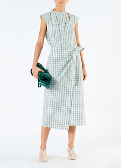 Elliot Check Wrap Skirt Mint Multi-1