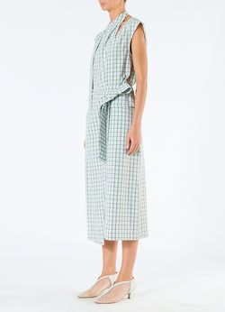 Elliot Check Wrap Skirt Mint Multi-5